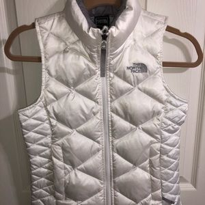 North Face Youth Girls white vest